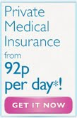Private Medial Insurance from 92p per day!